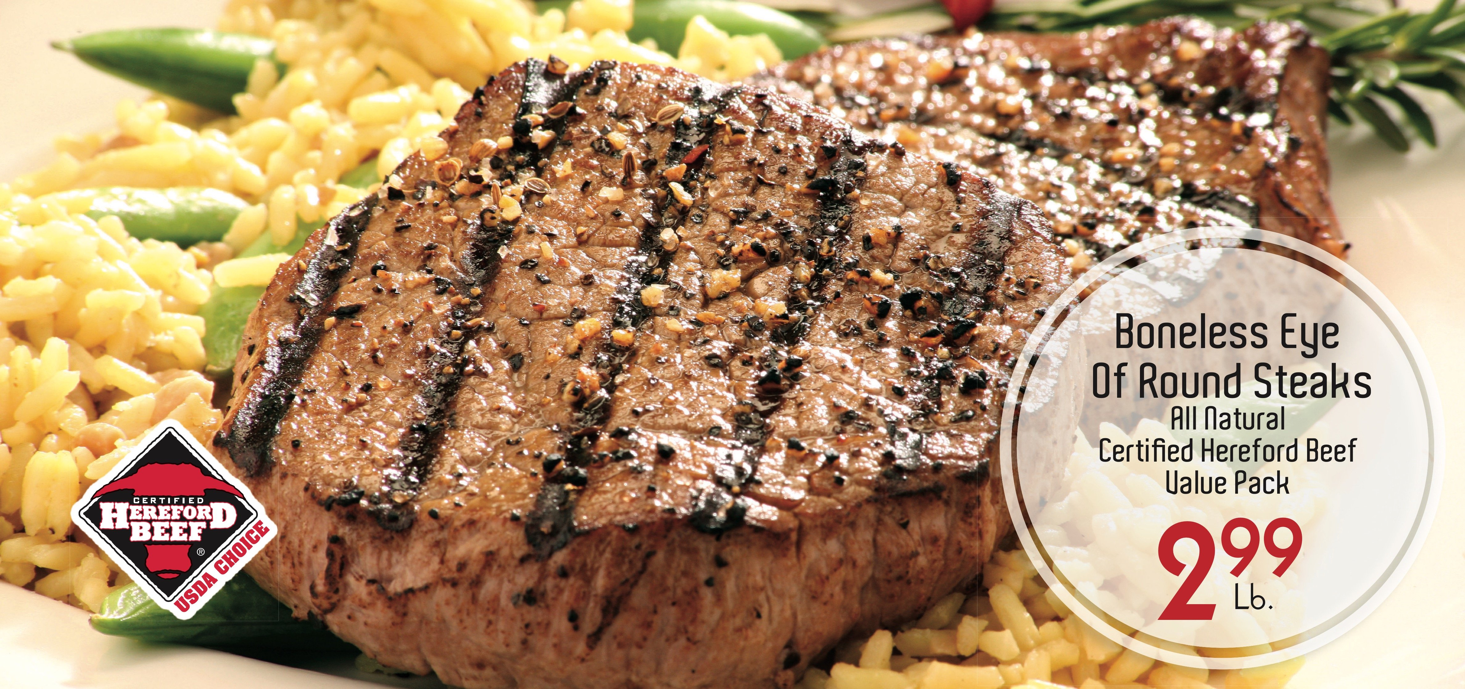 Boneless Eye of Round Steaks