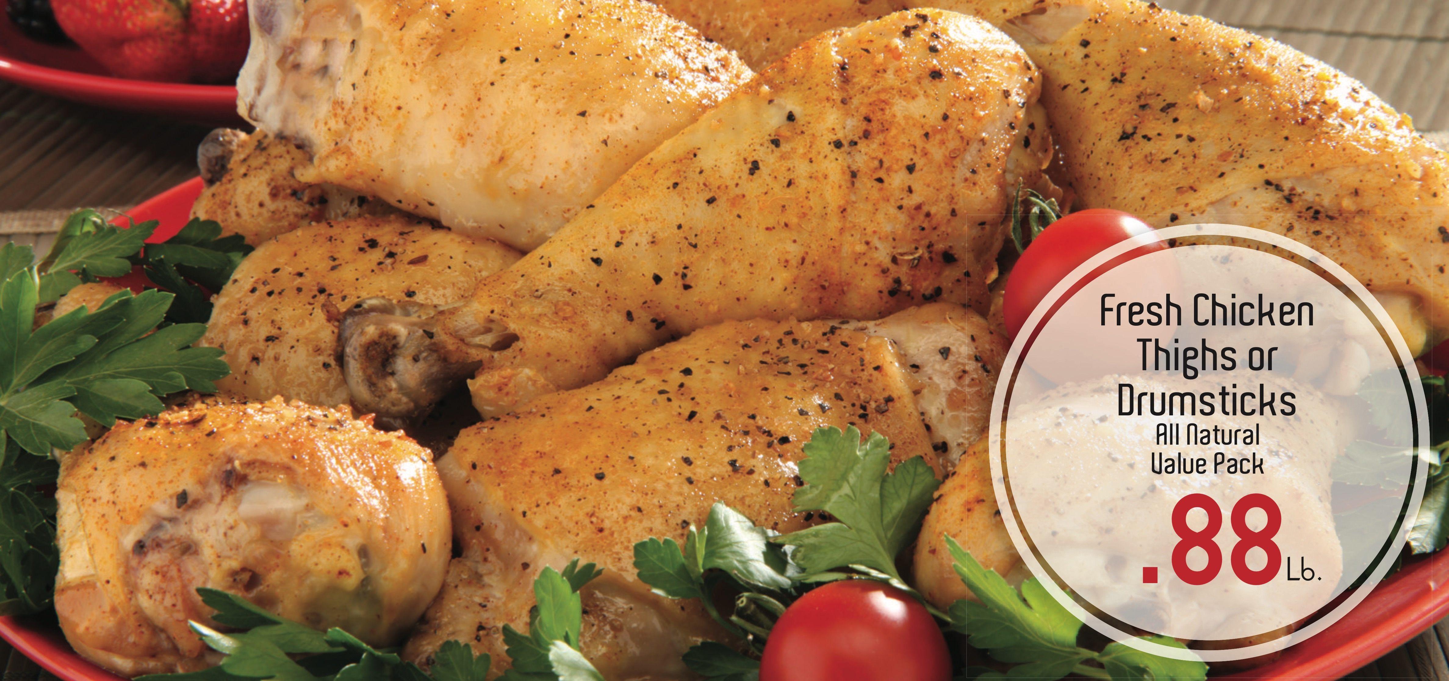 Fresh Chicken Thighs or Drumsticks